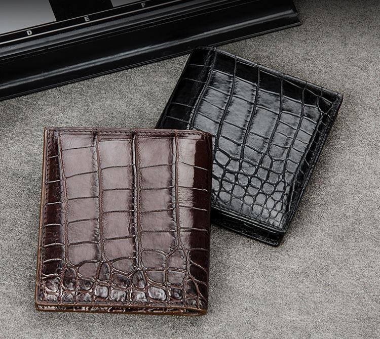 Top luxury men's wallet brand-BRUCEGAO alligator wallets