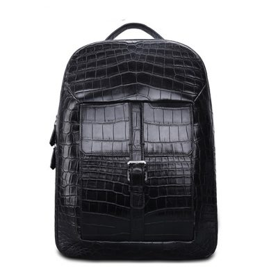 Unisex Alligator Leather Backpack Stylish Alligator Travel Bag