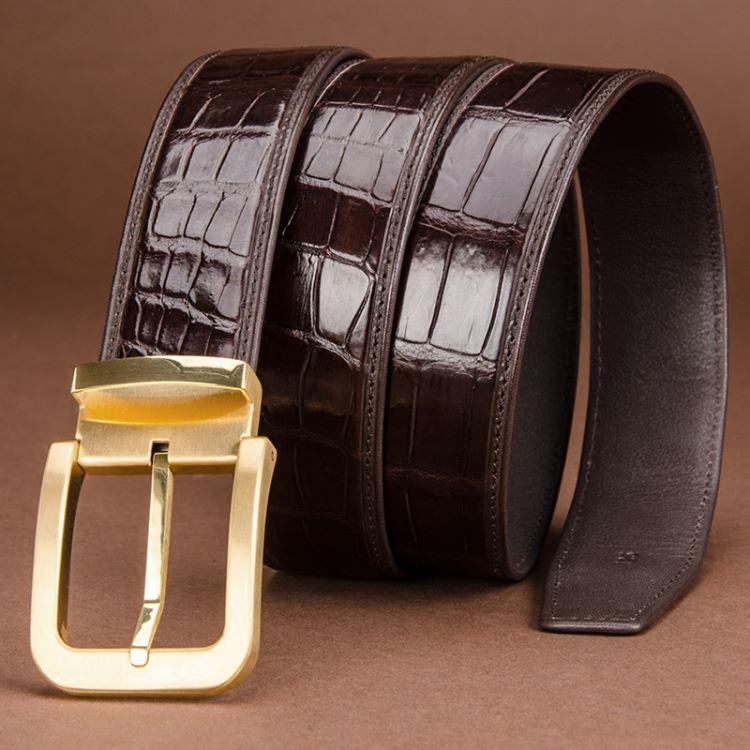 crocodile belt is luxury accessories for men