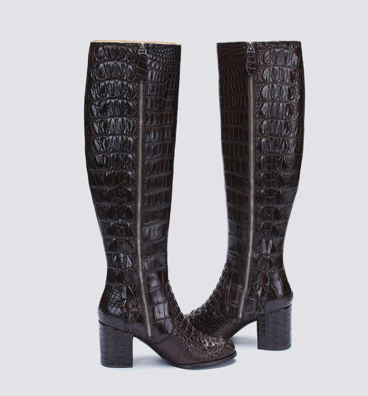 crocodile boots are luxury accessories for women