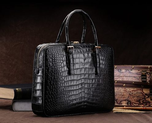 Alligator Business Bag-Black
