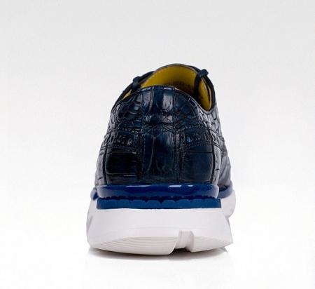 Alligator Leather Walking Sneakers-Heel