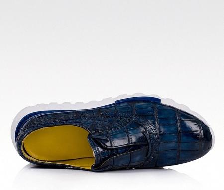 Alligator Leather Walking Sneakers-Upper