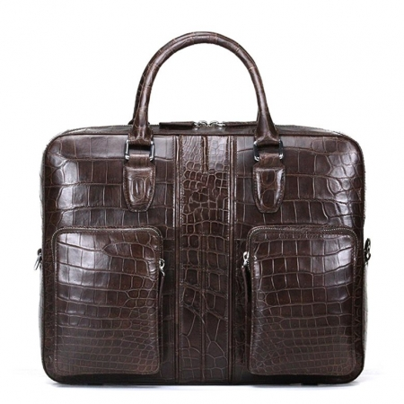 Alligator Messenger Bag Shoulder Bag Business Briefcase for Men