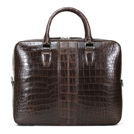 Alligator Messenger Bag Shoulder Bag Business Briefcase for Men-Back