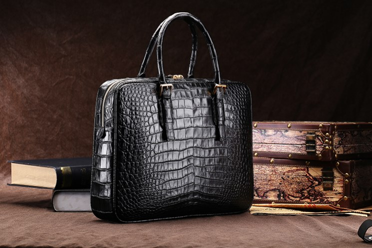 Alligator Skin Business Bag