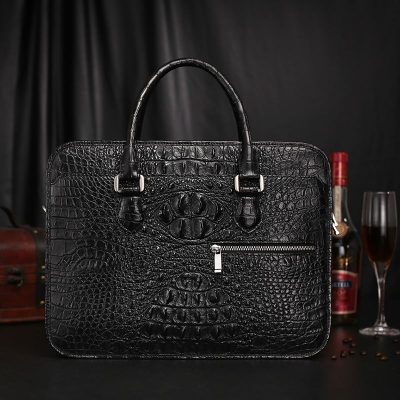 Crocodile Leather Briefcase Laptop Handbag Messenger Business Bags for Men