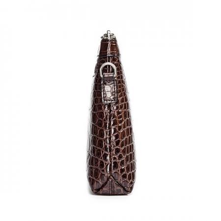 Designer Alligator Leather Large Wallet With Strap Wristlet Clutch Bag for Men-Side