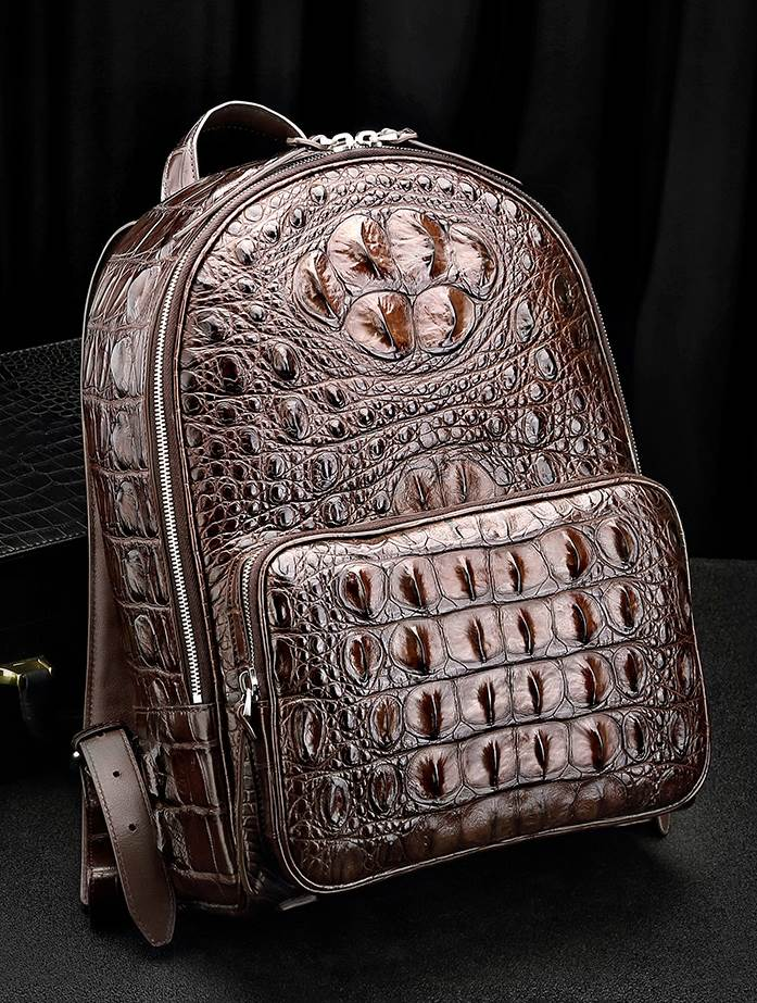 Exotic Leather Backpack-Crocodile Backpack
