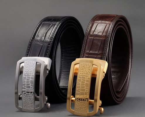 Exotic Leather Belts-Alligator Skin