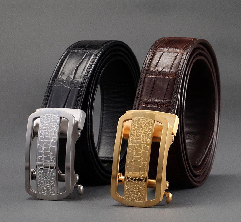 Exotic Leather Belts-Alligator Skin
