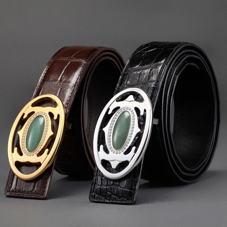 Exotic Leather Belts-Crocodile Skin