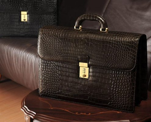 Exotic Leather Briefcase-Alligator Briefcase
