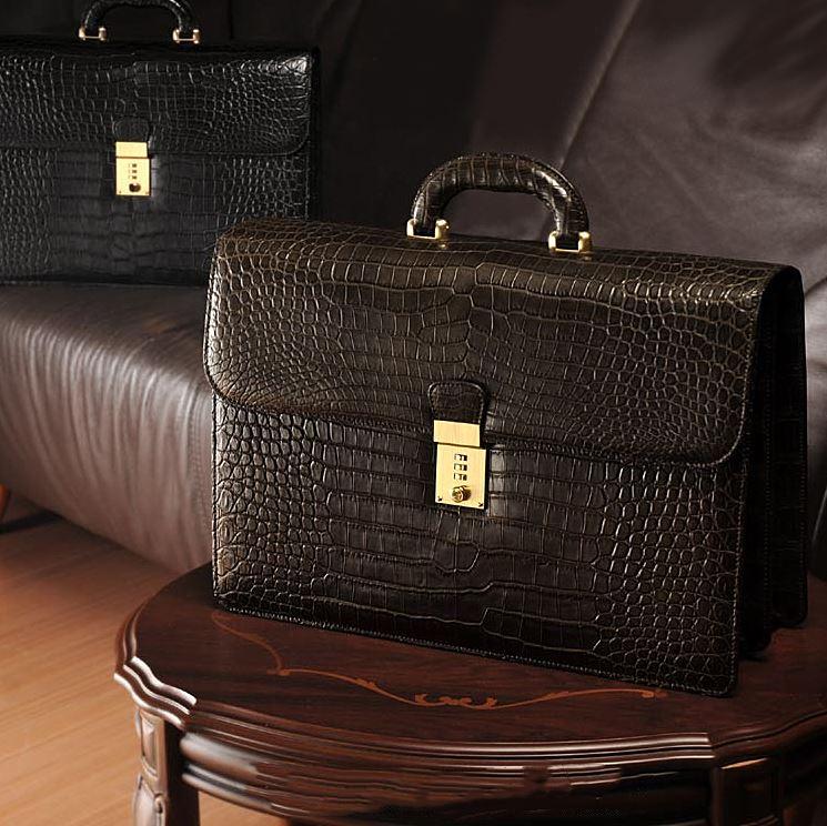 Exotic Leather Briefcase-Alligator Briefcase