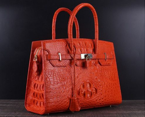 Exotic Leather Handbags-Alligator Leather Handbag