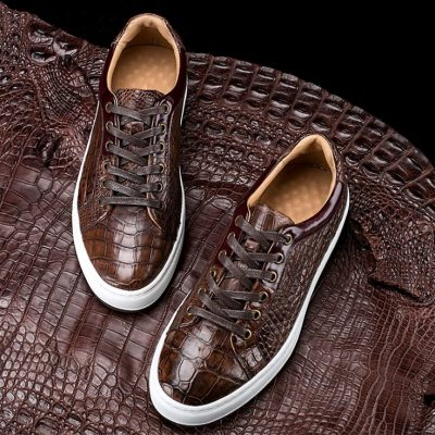 Fashion Alligator leather Sneaker Casual Alligator Leather Shoes
