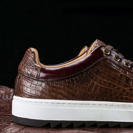 Fashion Alligator leather Sneaker Casual Alligator Leather Shoes-Details
