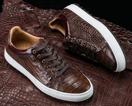 Fashion Alligator leather Sneaker Casual Alligator Leather Shoes-Display