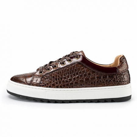 Fashion Alligator leather Sneaker Casual Alligator Leather Shoes-Side