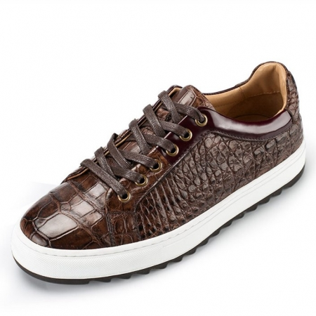 Fashion Alligator leather Sneaker Casual Alligator Leather Shoes-Upper