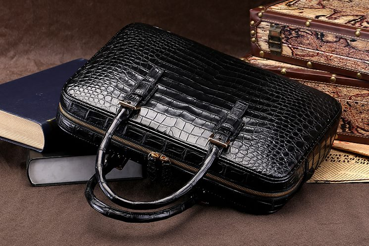 Genuine Alligator Skin Business Bag