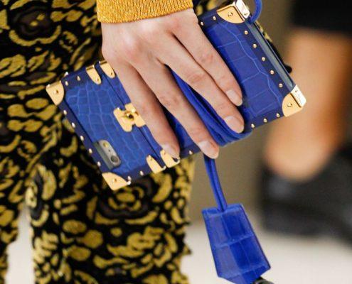 Louis Vuitton Crocodile iPhone Case-Blue