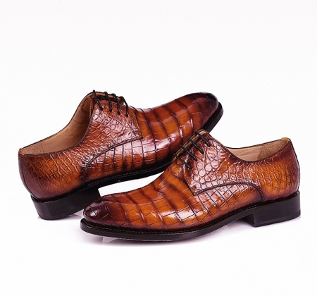 Men's Genuine Alligator Leather Derby Shoes in Goodyear Welt-Details
