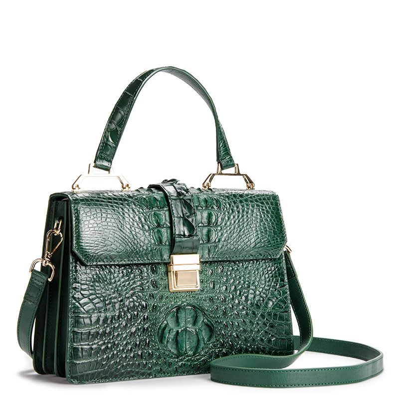 Siamese Crocodile Leather Bag