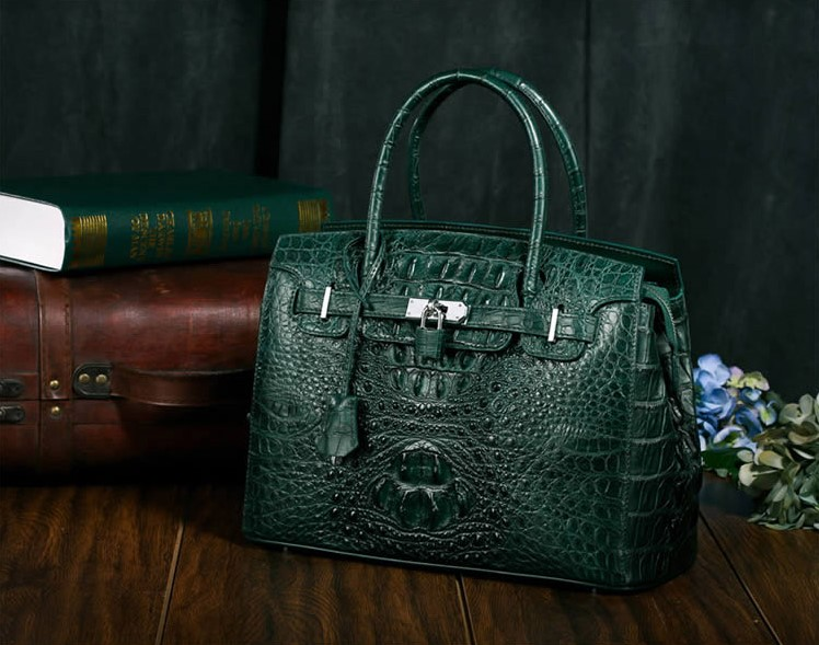 Siamese crocodile handbag