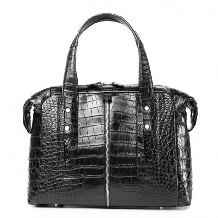 Unisex Alligator Leather Briefcase, Alligator Shoulder Handbag