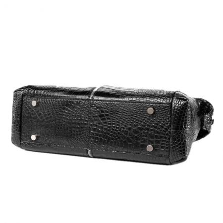 Unisex Alligator Leather Briefcase, Alligator Shoulder Handbag-Bottom
