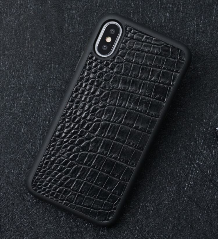 Vintage alligator skin iPhone case