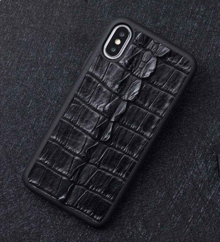Vintage crocodile skin iPhone X case