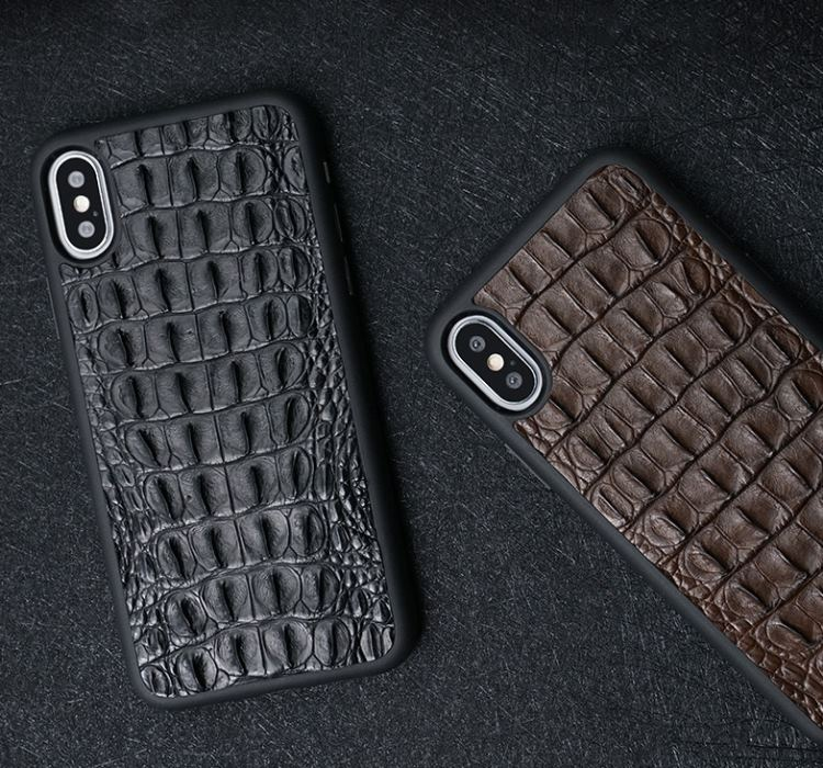 Vintage crocodile skin iPhone cases