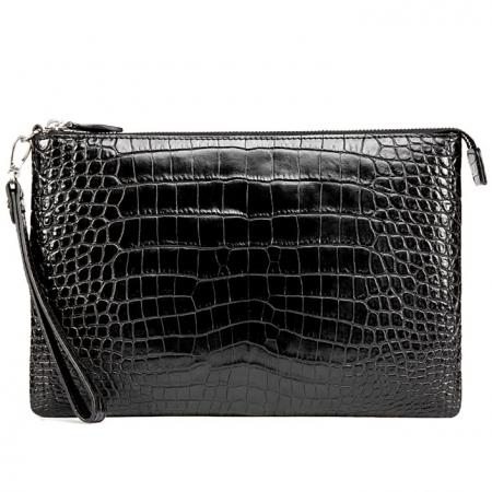 Alligator Envelope Clutch Bag Business Portfolio Briefcase Large Wallet With Strap