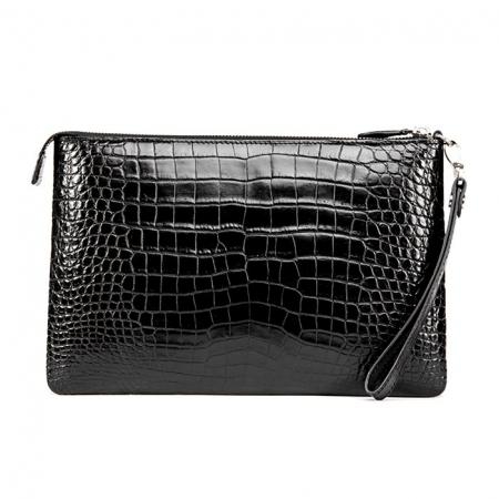 Alligator Envelope Clutch Bag Business Portfolio Briefcase Large Wallet With Strap-Back