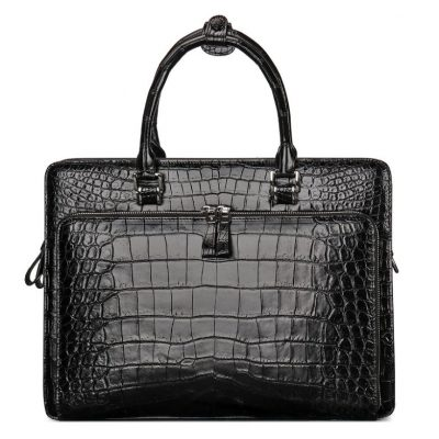 Alligator Leather Briefcase Messenger Bag Attache Case for Men