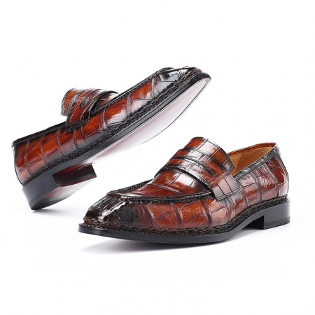 Alligator Leather Loafers Shoes Slip-On Dress Shoes