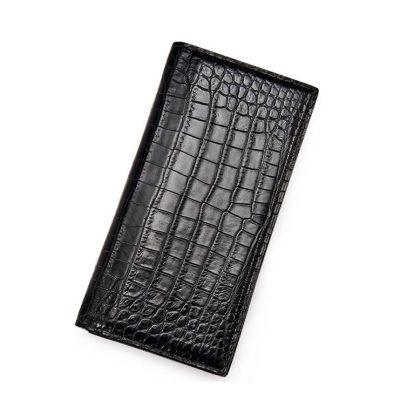 Alligator Multi-Card Long Bifold Wallet Alligator Suit Wallet for Men
