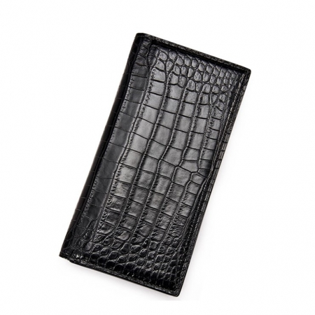 Alligator Multi-Card Long Bifold Wallet Alligator Suit Wallet for Men