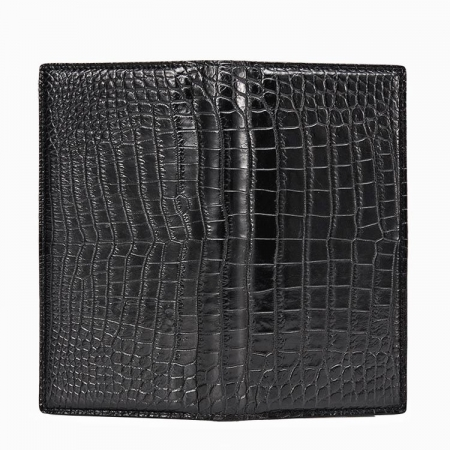Alligator Multi-Card Long Bifold Wallet Alligator Suit Wallet for Men-Details