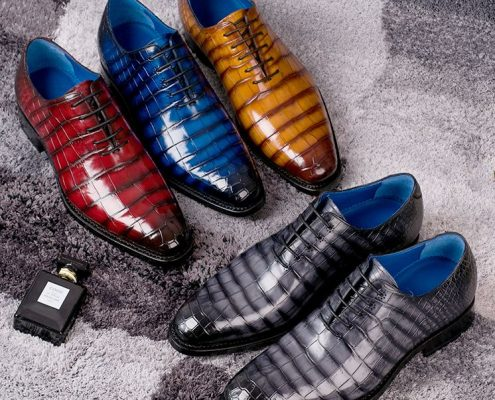 Alligator and Crocodile Skin Shoes-maintain