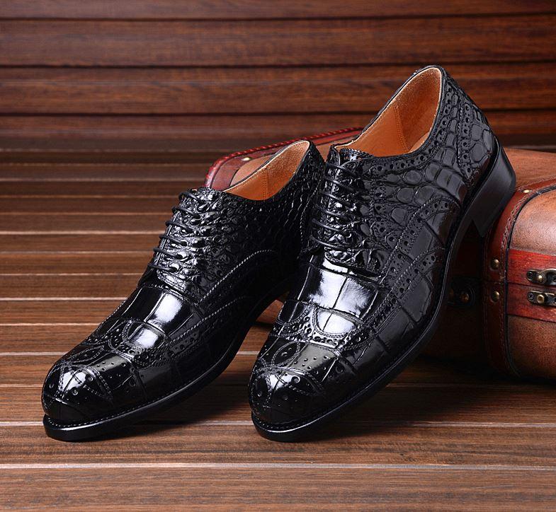 Business Fashion Tips-Mens Alligator Shoes