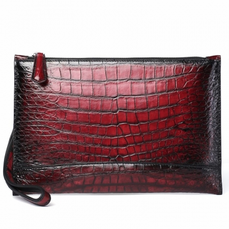 Casual Alligator Skin Envelope Clutch Bag Business Portfolio Briefcase for Men