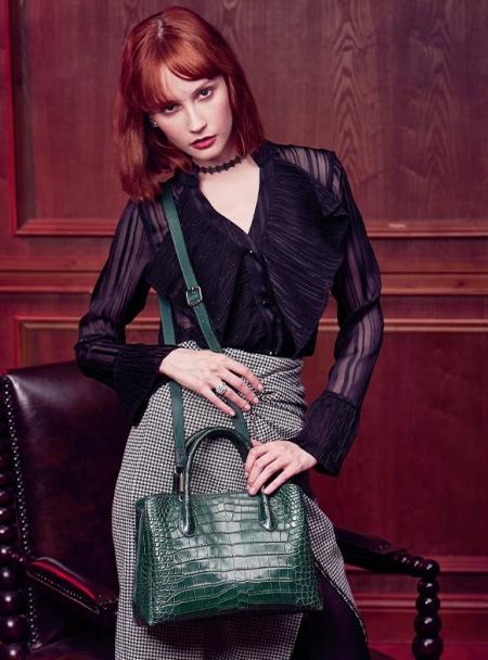 Classic Alligator Leather Tote Handbags Purses Shoulder Satchel Bags-1