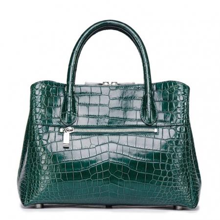 Classic Alligator Leather Tote Handbags Purses Shoulder Satchel Bags-Back