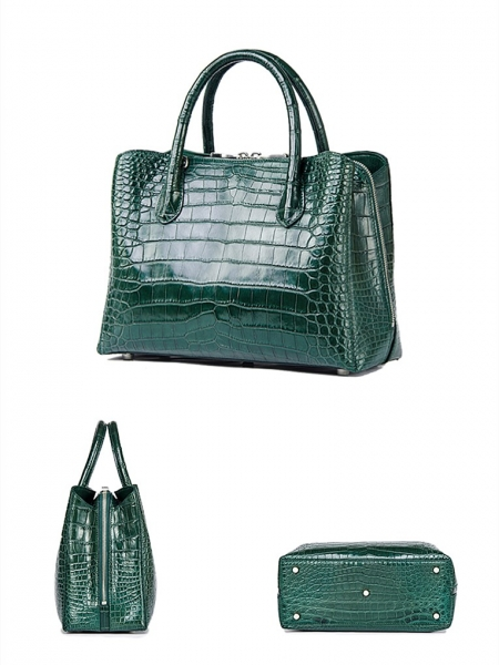 Classic Alligator Leather Tote Handbags Purses Shoulder Satchel Bags-Details