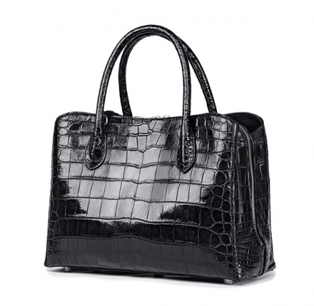 Classic Alligator Leather Tote Handbags Purses Shoulder Satchel Bags-Side