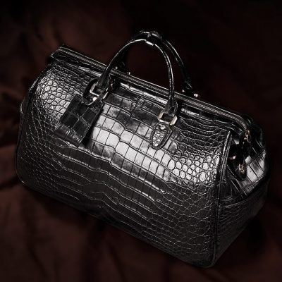 Crocodile Duffle Bag, Alligator Duffle Bag-Display