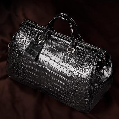 Crocodile Duffle Bag, Alligator Duffle Bag-Display